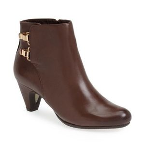 SAM EDELMAN Marmont Brown Leather Booties